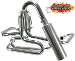 1-5/8 Inch Competition Exhaust Off Road Muffler Chrome