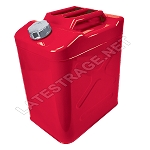 Journey Can Galvanized Steel 7.5 Gallon Red