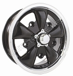 Black 5-Spoke Wheel 5/205 5.5-Inch Offset