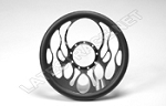14-Inch Billet Grip Flames Steering Wheel