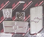 Billet Grooved Universal Full-Size Truck Pedal Covers