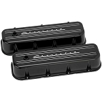 Chevy BB Chevrolet Script Tall Aluminum Valve Covers