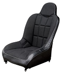 Race Trim Wide High Back Seat Black Trim with Black Center