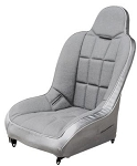 Race Trim Wide High Back Seat Grey Trim with Grey Center