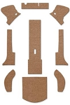 1953-55 VW Convertible Square Weave Carpet Set 11-pc
