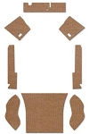 1959-60 Beetle Sedan Square Weave Carpet Set 8-pc