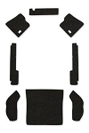 1962-64 Beetle Sedan Square Weave Carpet Set 8-pc