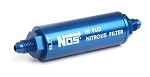 Billet In-Line Nitrous Filter -4AN 140-Micron Blue Anodized