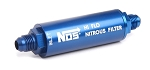 Billet In-Line Nitrous Filter -6AN 140-Micron Blue Anodized