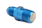 Nitrous Filtered Fitting -4AN to 1/4 NPT Straight Blue Anodized