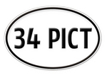 """34 PICT"" Oval Decal"