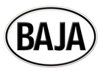 """Baja"" Oval Badge"