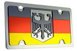 License Plate German Flag Stainless Steel