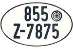 Oval German Plate