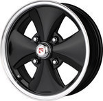 Wheel Iron Cross Style Black/Polished 4-Lug