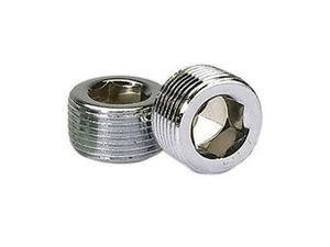 3/4 Inch Chrome NPT Pipe Plugs