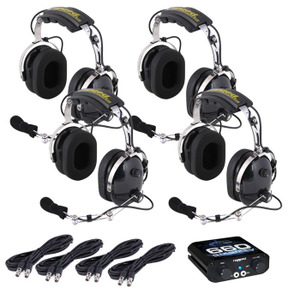 4-Place Intercom Kit with Over the Head Headsets