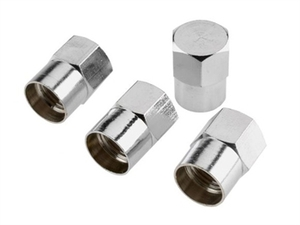 Chrome Valve Caps 4-pk