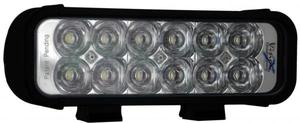 8 Inch LED Light Bar Black Twelve 3W LEDs Euro Beam