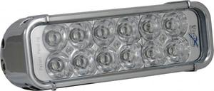 8 Inch LED Light Bar Chrome Twelve 3W LEDs Euro Beam