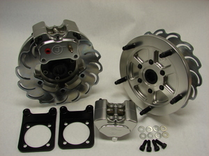 5-Lug 2-Piston Rear Disc Brake Conversion Kit Long Axle