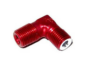 90 Degree Red Aluminum Flare Jet Fitting