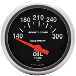 Oil Temperature Gauge 2-1/16 Inch Range 140 - 300 Deg F