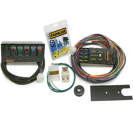 painless performance products 50005 universal 10 circuit with switch panels pro drag race