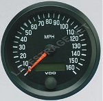 160 MPH Speedometer Gauge 3-3/8 Diameter