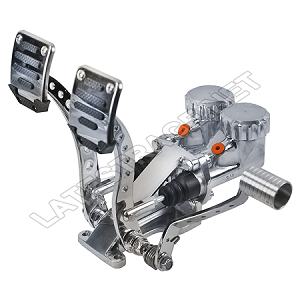 Hydraulic Pedals 3/4-5/8 HD Polished w/Roller Pedal
