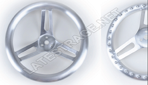 15-Inch Flat Steering Wheel with Nipple Grips