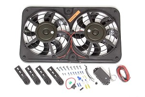 12-Inch Universal Dual Lo-Profile Pusher Fans with Controls