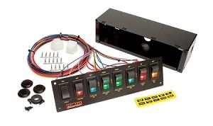 roll-bar mount 8-switch pro street/drag race wiring harness panels