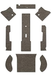 1950-52 Beetle Sedan Square Weave Carpet Set 9-pc