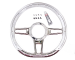 14-Inch D-Shaped Formula Polished Select Edition Steering Wheels