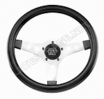13-Inch Black Flat Steering Wheel