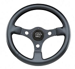Formula GT Black 3-Spoke Steering Wheel 12-Inch