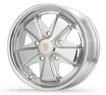 911 Alloy Replica Polished Wheel 5.5x15 Heritage Logo