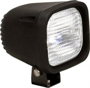 4 Inch Square Black 100W Halogen Horizontal-Flood Beam