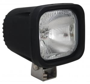4 Inch Square Black 100W Halogen Vertical-Flood Beam Lamp