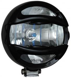 6 Inch Black 100W Halogen Euro Beam Lamp with Rock Guard
