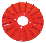 Finned Generator Pulley Cover Red