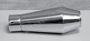 The Bomb Polished Stainless Steel 3x13 Exhaust