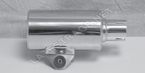 Exhaust Hot Shot Muffler Polished Stainless 2x10