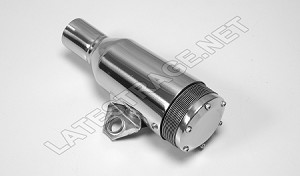 Exhaust Spark Arrestor 4x2 Tube 10 Inch Long Polished