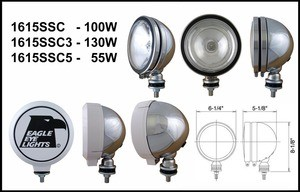 6-Inch Stainless 12V 55W Spot Clear Halogen Light with ABS Cover
