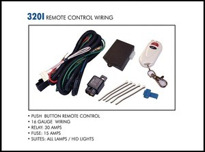 Push Button Remote Control Wiring Kit for 2 Lights