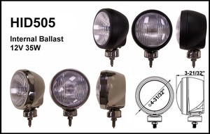 4-31/32-Inch Stainless Steel 35W Internal Ballast HID Driving Light