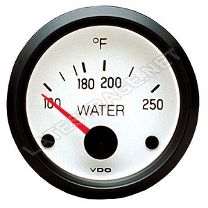 Water Temperature Gauge 0-250 F